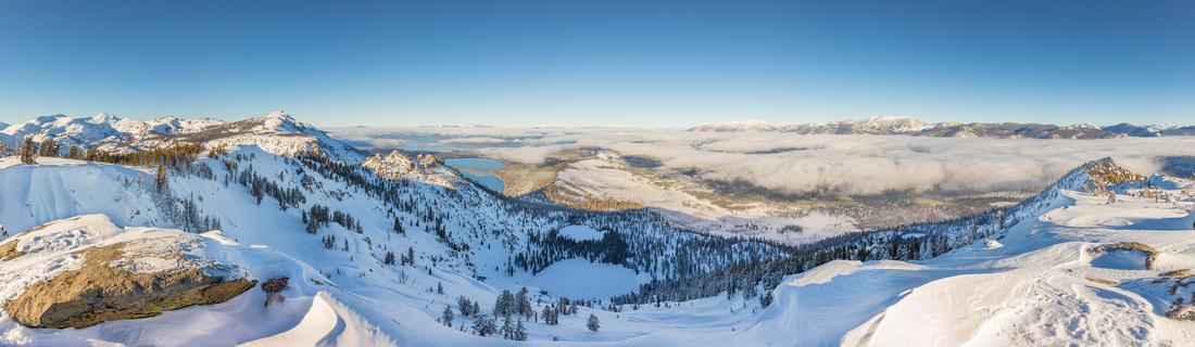 Echo Peak Panorama of the Tahoe Basin