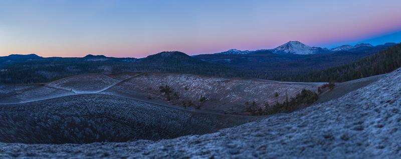 Cinder Cone - Lassen Peak - Panorama