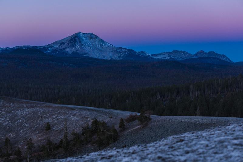 Cinder Cone and Lassen Peak