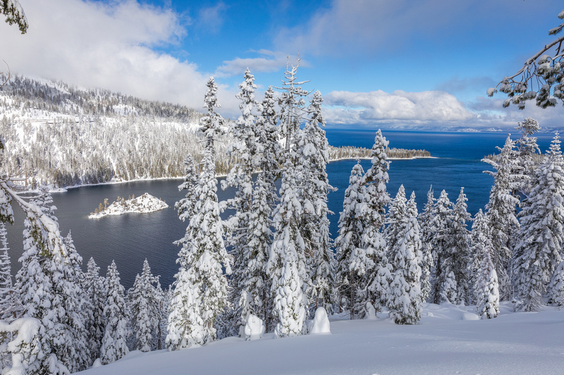 Winter in Emerald Bay, Lake Tahoe
